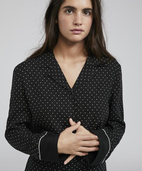 Ecru polka dot shirt