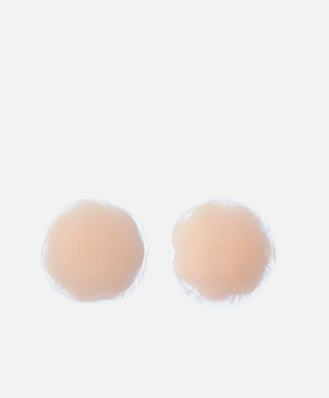 Adhesive silicone nipple covers