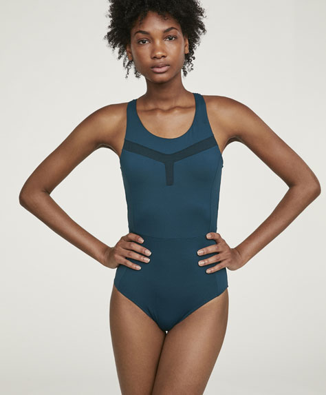 Swimsuit with sheer details