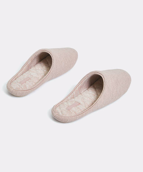 Basic cotton slippers