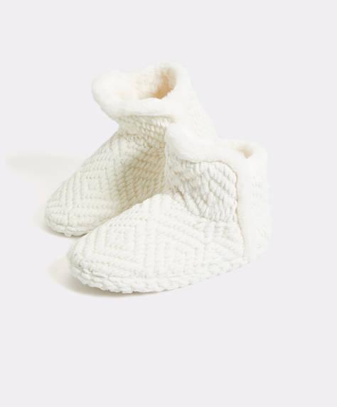 Furry slipper boots