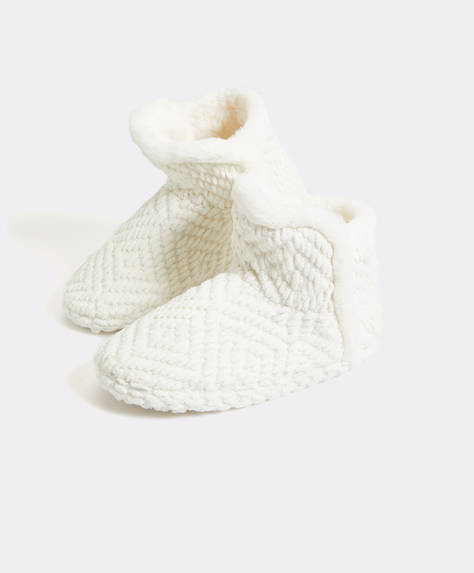 Furry slipper boots