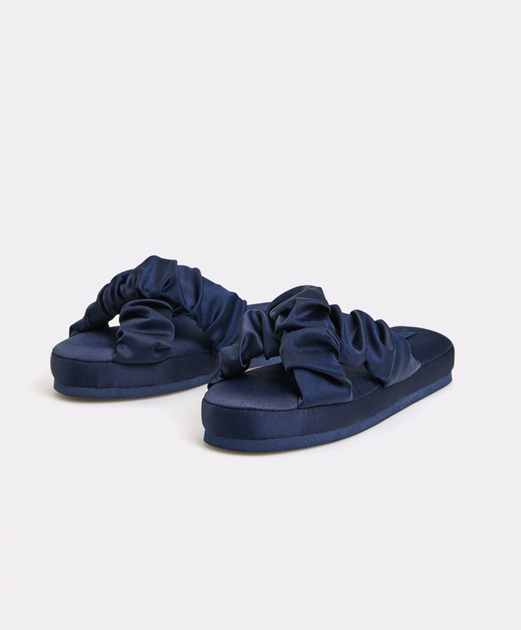 6cec8b490e2a Gathered vamp sandals - Slippers - Pyjamas and homewear