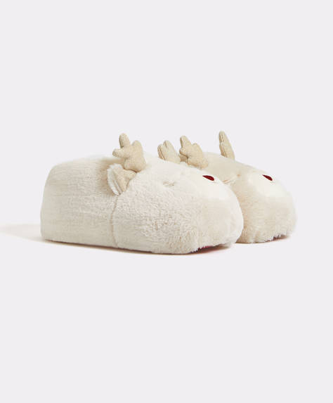 Closed reindeer slippers