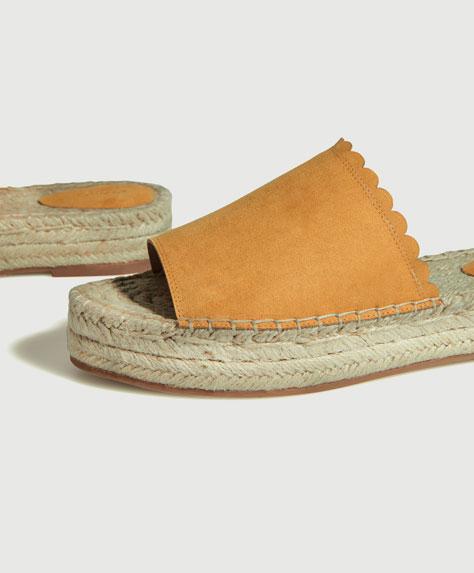Jute flatform sandals