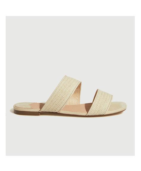 Raffia double-strap sandals