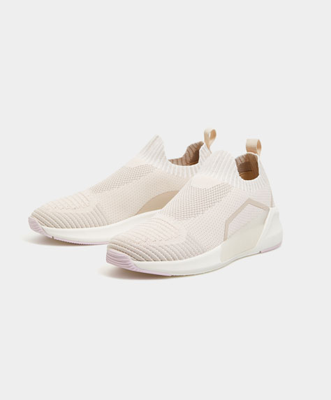 Fabric sock-style trainers