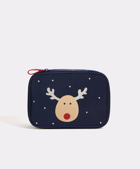 Fantasy reindeer Christmas wash bag