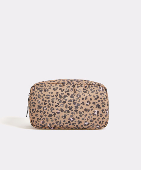 Animal print wash bag