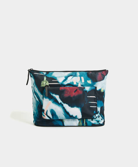 Printed gym toiletry bag