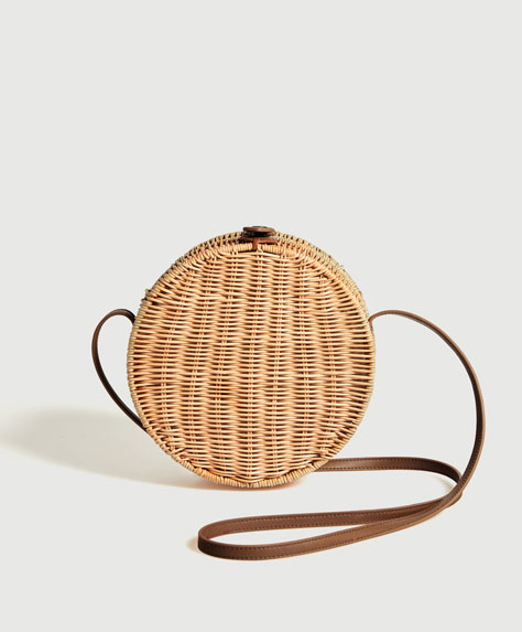 Natural round bag