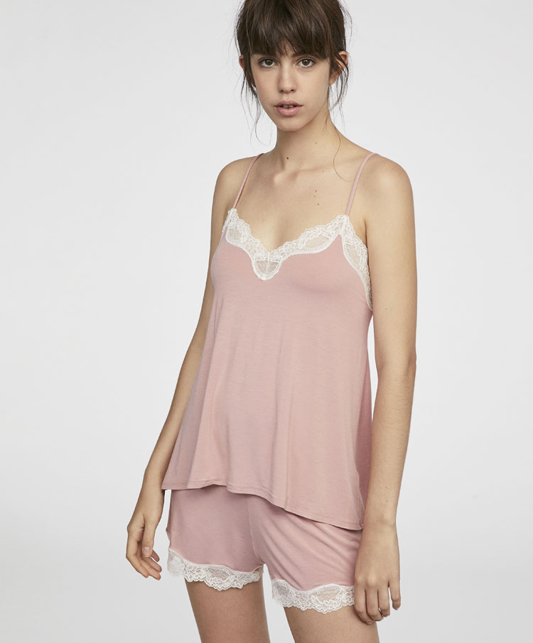 4ca7cc23ce Conjunto pijama modal rosa - Conjuntos pijamas - Pijamas y homewear ...