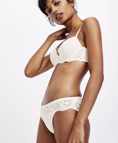 Cotton lace classic briefs