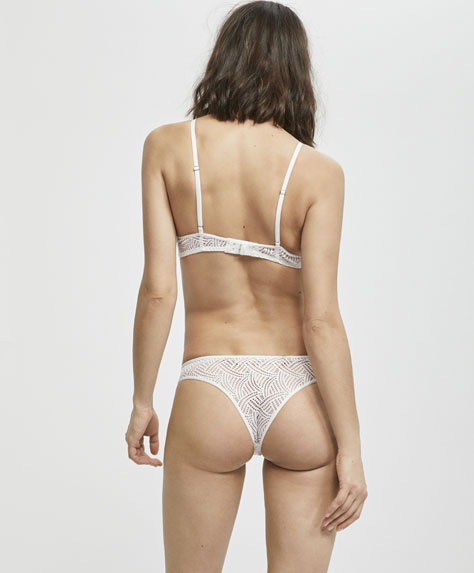 Brazilian briefs with a micro textured weave design