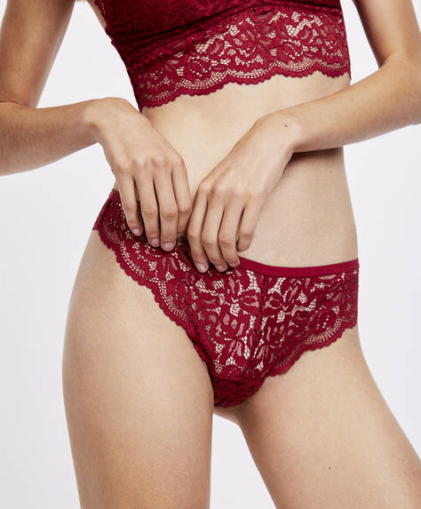 Brazilian lace briefs