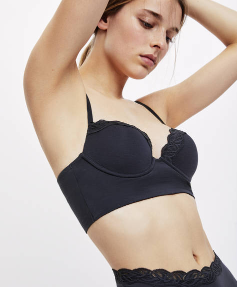 Classic plain modal bra