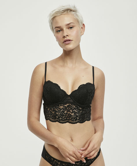 Bralette classica all'uncinetto