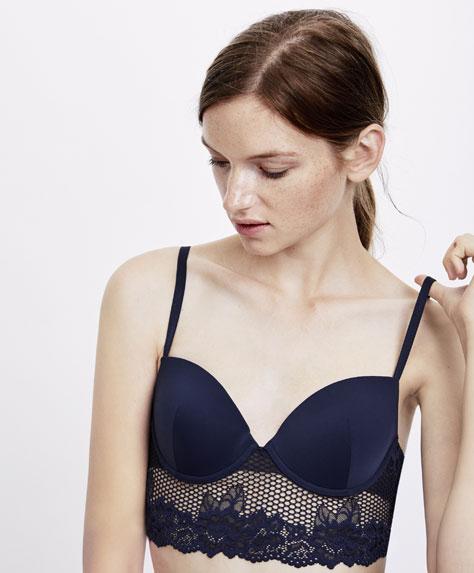 Floral lace classic bra