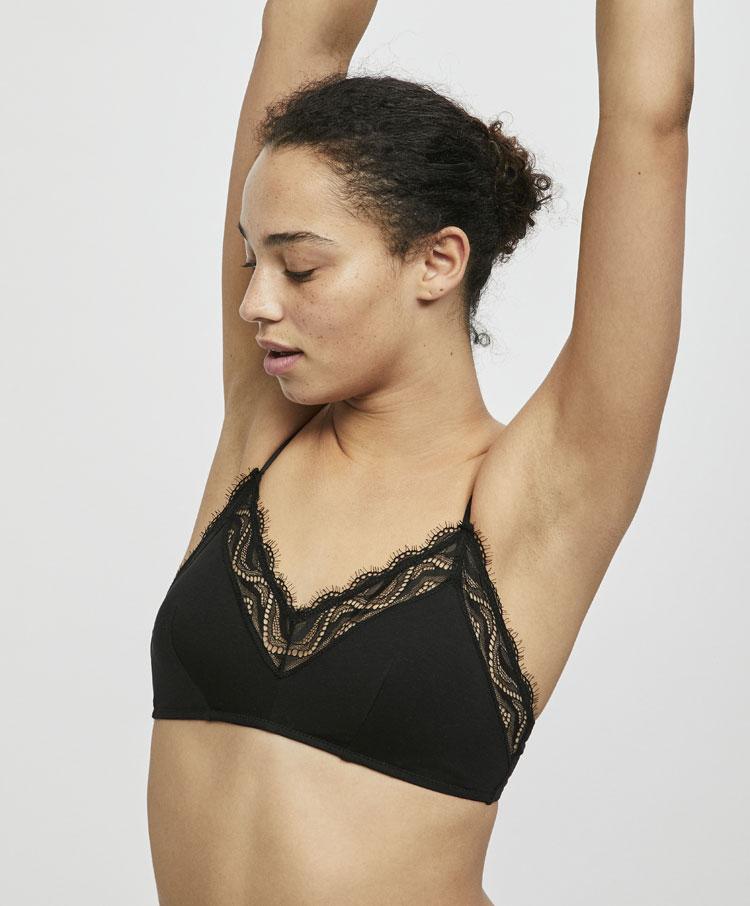 2bdd59ca07375 Cotton lace bra with removable padding - Dentelle - Bras - Lingerie ...
