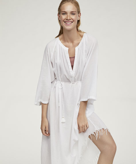 Long textured weave tunic