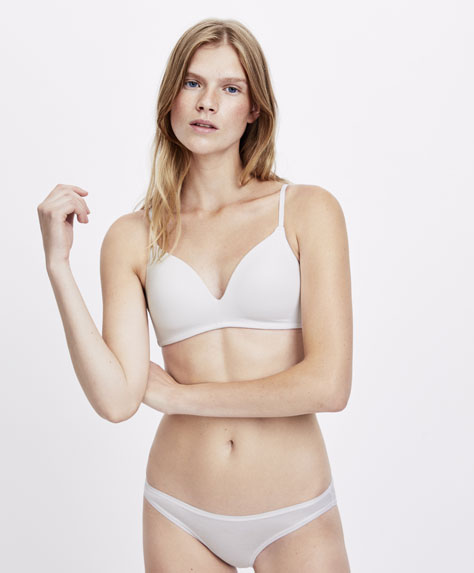 Cotton triangle bra