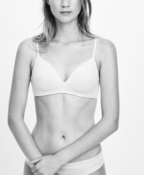 Cotton triangle bra