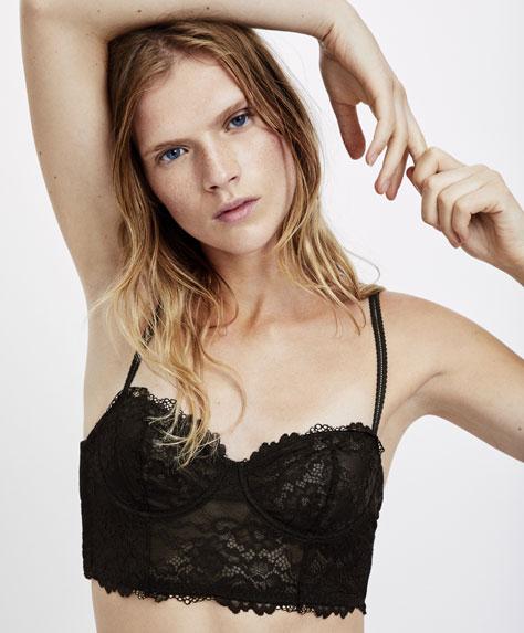 Lace bustier bra