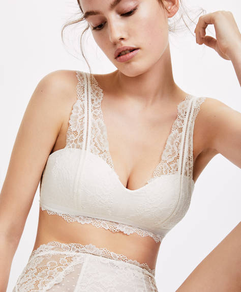 Plain lace bralette