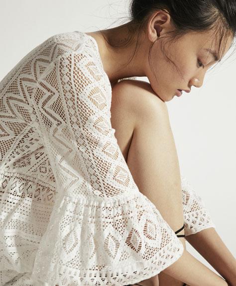 Playera crochet geométrico