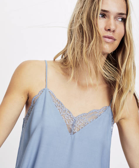 Fog blue top