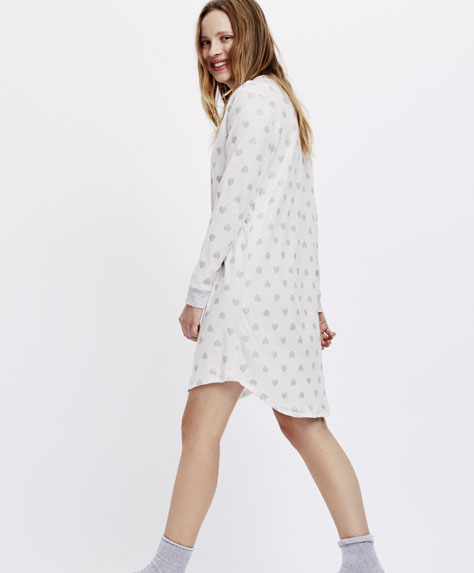 Glittery heart print nightdress