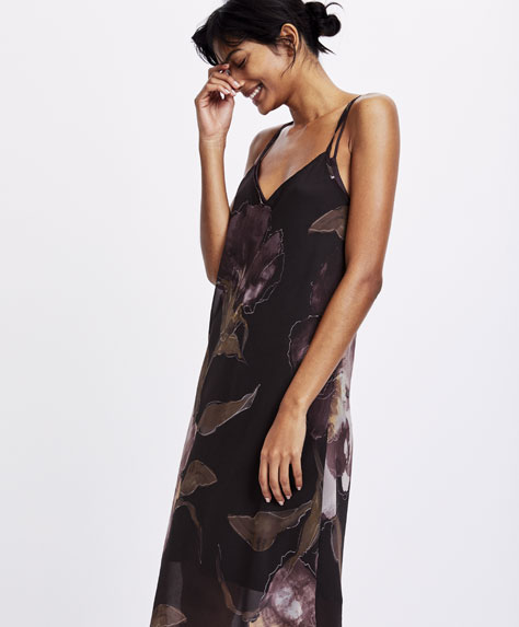 Nightdress with maxi flower print