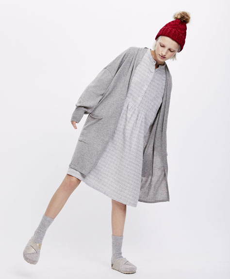 Grey check nightdress