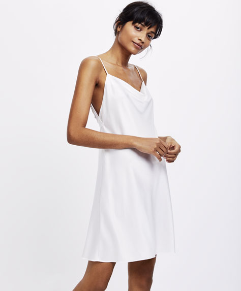 Short basic strappy nightdress