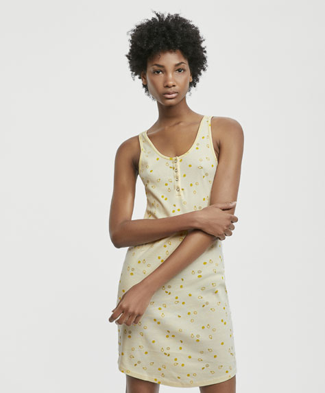 Mini lemon print nightdress