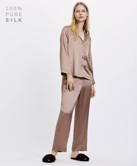 Luxe silk trousers