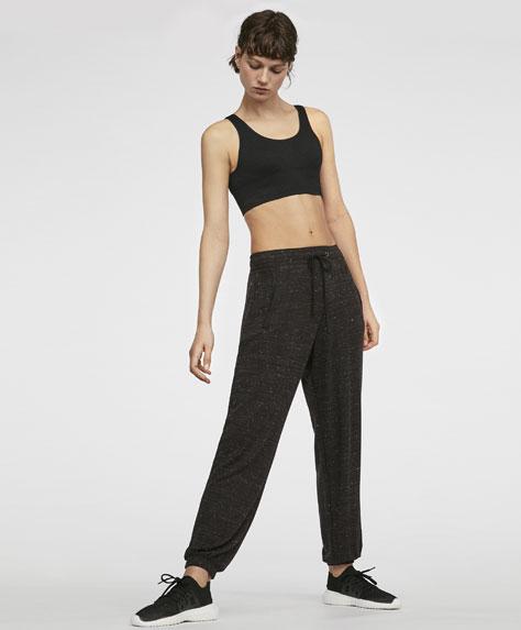 Melerede bukser med bindebånd