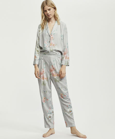 Melissa flower print trousers