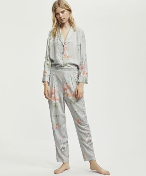 Длинные брюки с цветочным принтом «Мелисса»
