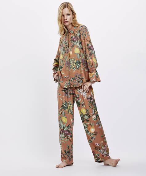 Fruit and floral trousers