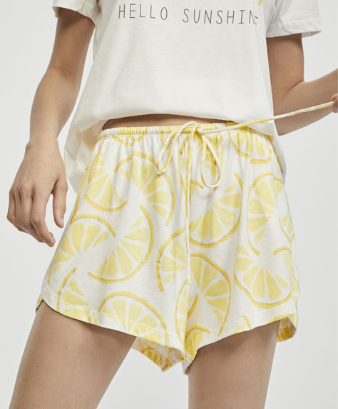 Shorts med citroner