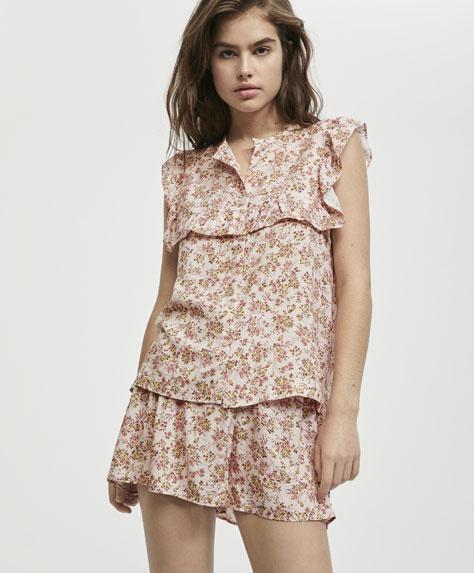 Mini floral print shorts