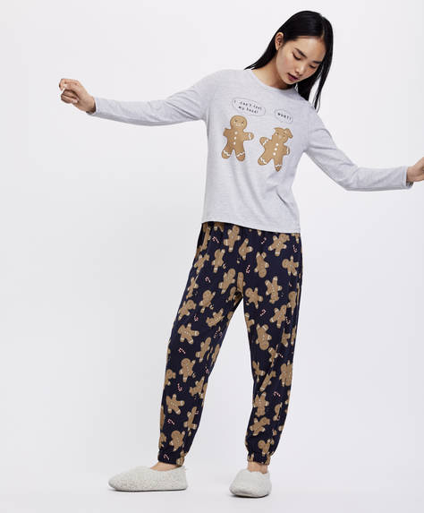 Christmas gingerbread man trousers