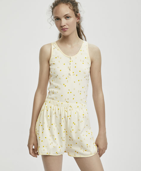 Mini lemon print shorts