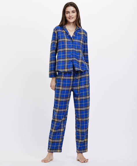 Electric blue check trousers