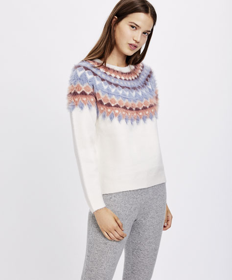 Colourful jacquard jumper