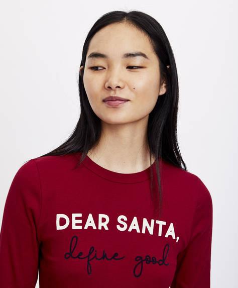 Футболка с надписью Dear Santa
