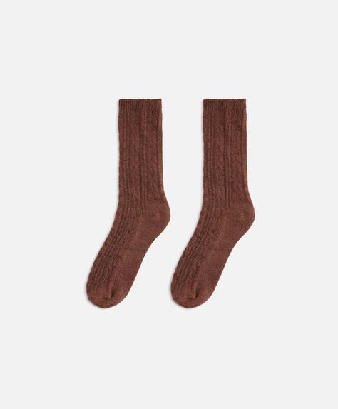 Απλή πλεκτή κάλτσα