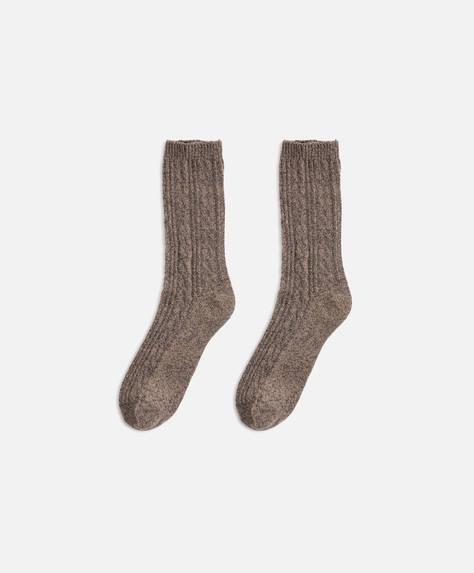 Rustikale einfarbige Socken