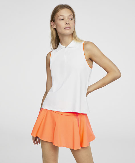 Polo padel col chemise